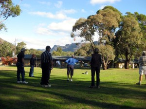 Boule in the Caravan Park on the rest day