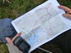 Navigating on the Heathy Spur track