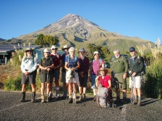 About to climb Mt Taranaki
