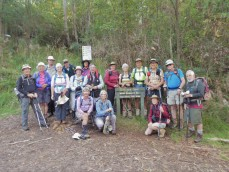 walkers setting out at Mt. Bogong
